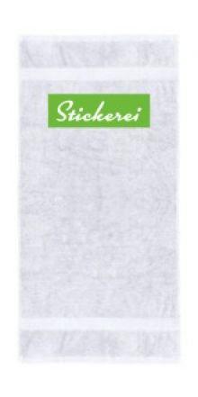 Handtuch Stickerei oben