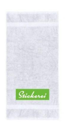 Handtuch Stickerei unten