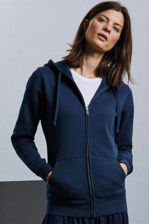 266F-Damen Authentic Zipped Hood Jacke