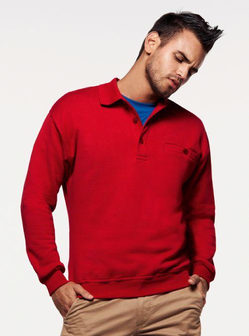 Pocket-Polo-Sweatshirt Premium (№457)