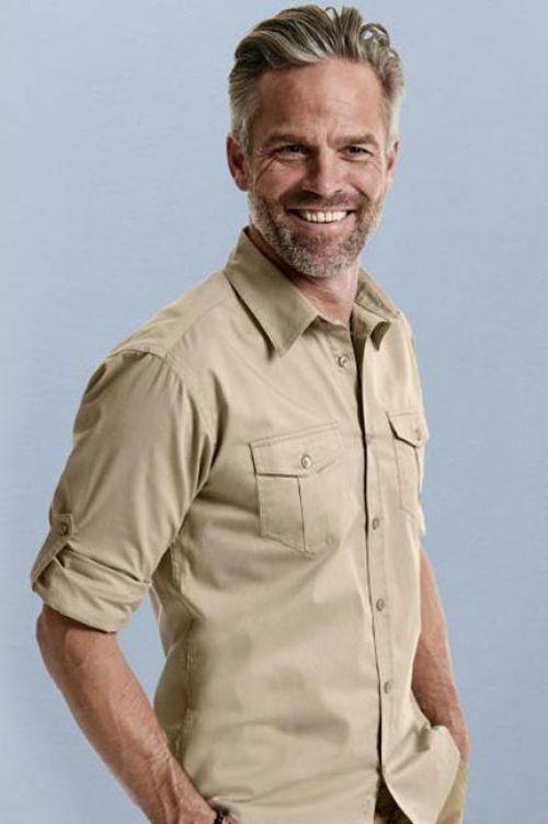 Hemd mit krempelbaren langen Ärmeln