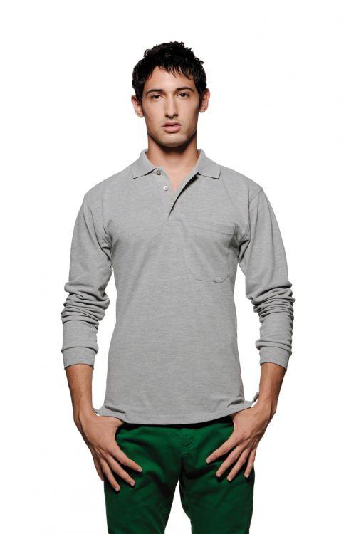 Longsleeve-Pocket-Poloshirt Top (№809)