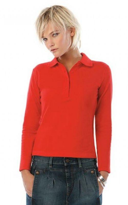 B&C Safran Ladies Long Sleeve Polo