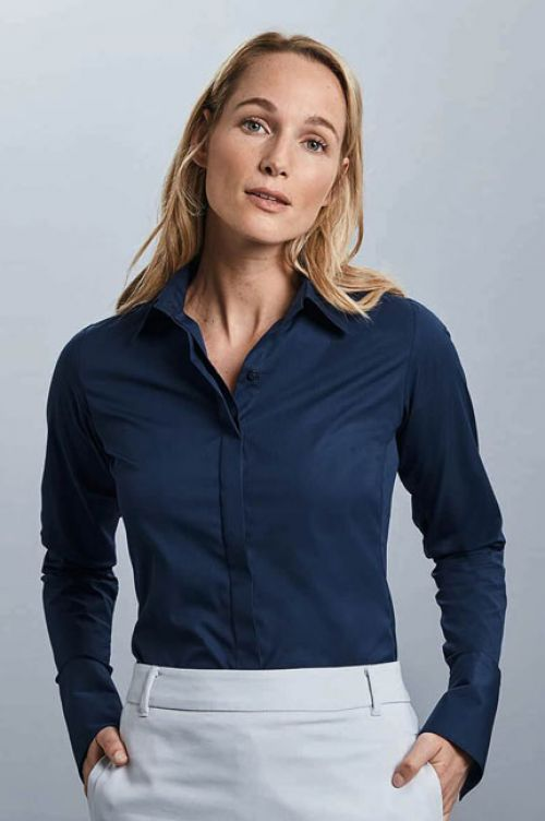 R-960-F Ultimate Stretch Shirt für Damen, Langarm