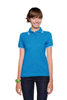 Women-Poloshirt Twin-Stripe (№205)
