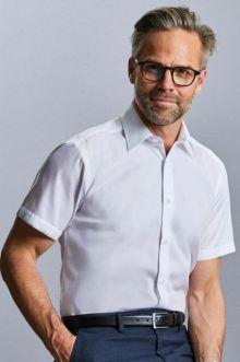 Absolut bügelfreies tailliertes kurzärmeliges Hemd
