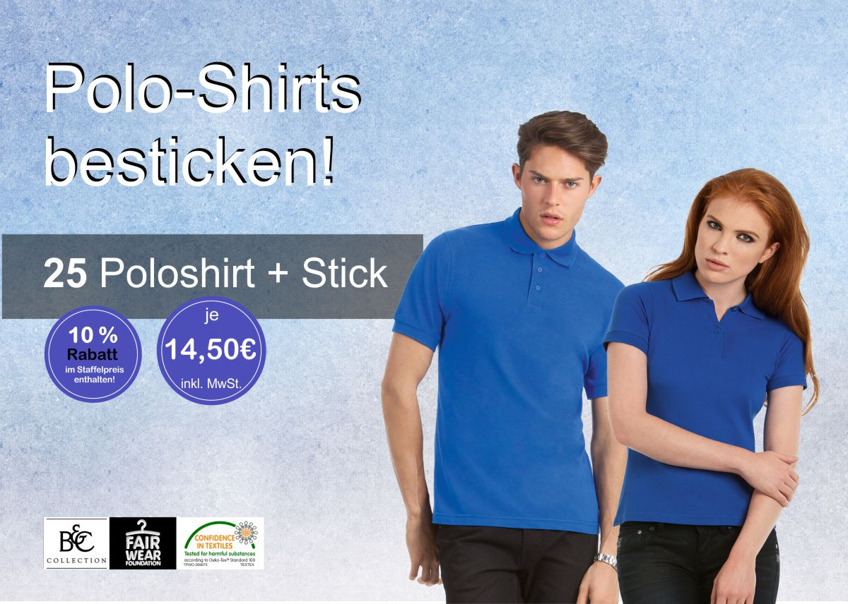 Polo Shirts besticken lassen